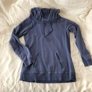 Blue Grey Gap Body Comfy Hoodie with Pockets